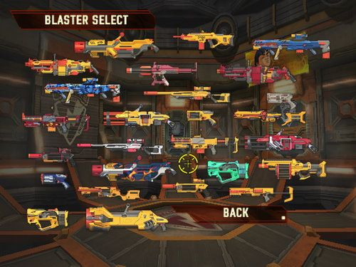 Blaster Select in de Iphone App van Nerf!
