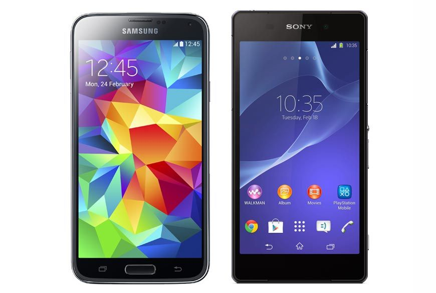 Samsung Galaxy S5 Vs Sony Xperia Z2 8211 Best 2014 Smartphones Comparison Samsung Sony Xperia Samsung Galaxy