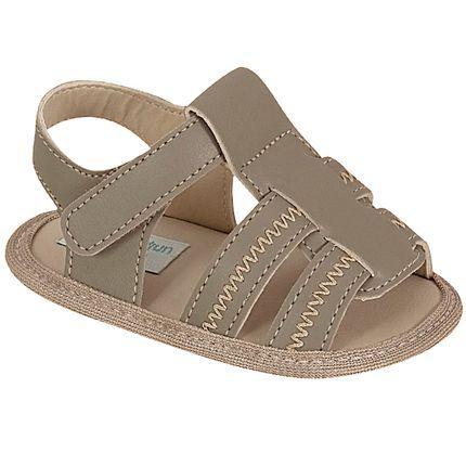 Sandália para bebê Bordados Caqui - Unipasso