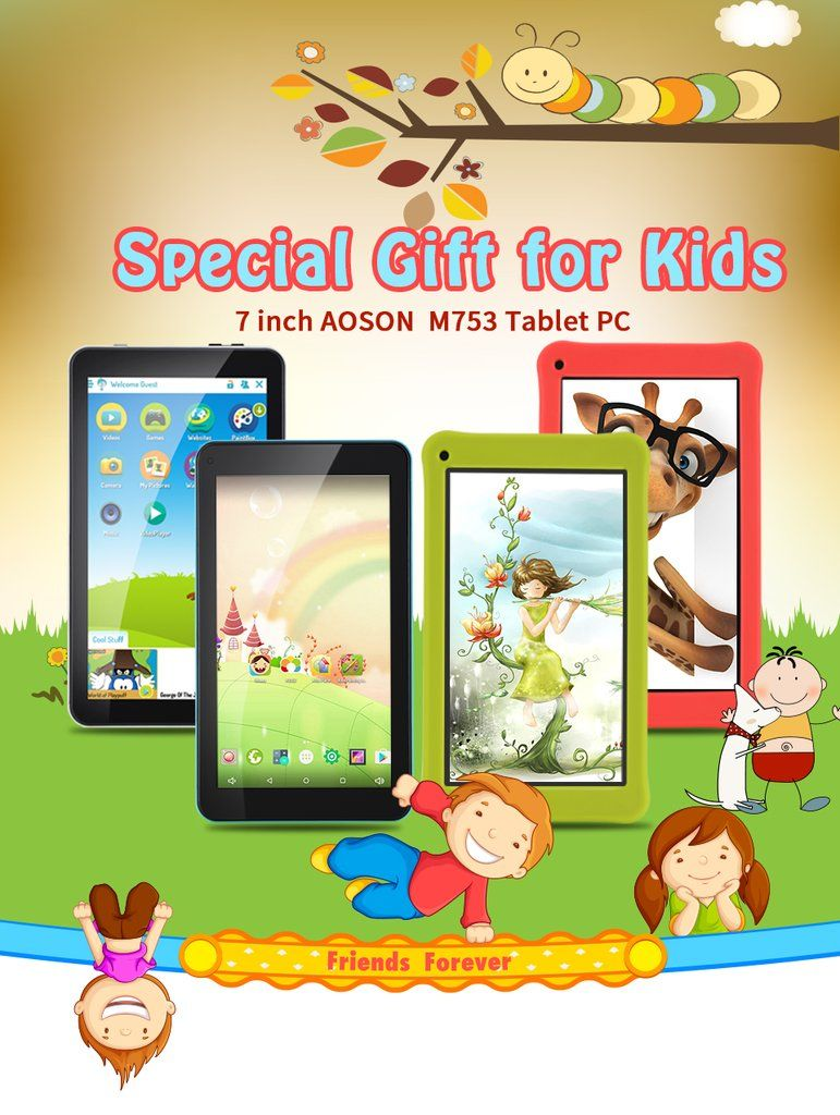 Cute 7inch Kids Pad Tablet 16GB/1GB Android 7.1 Cell