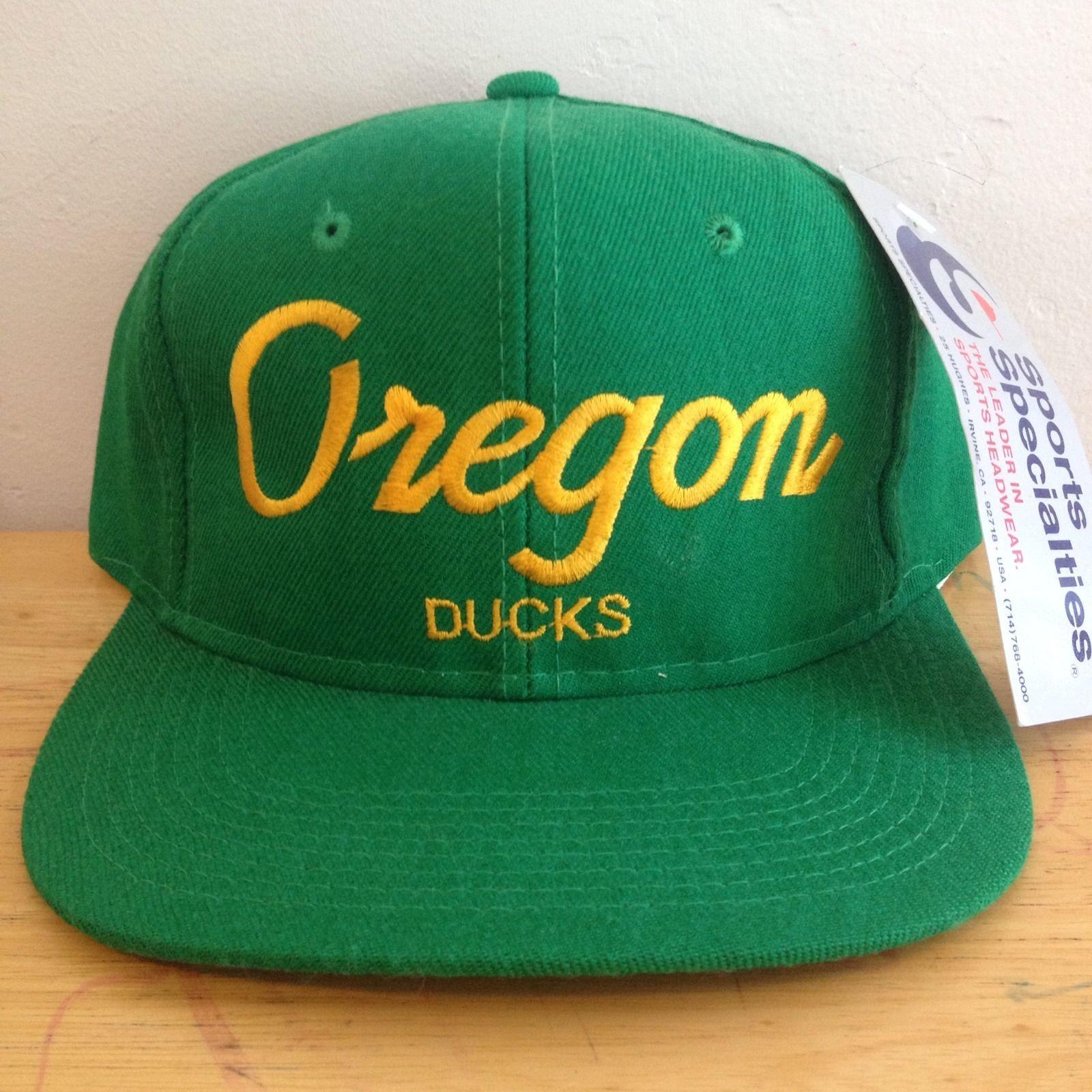 new product 20370 047ce RARE Oregon Ducks Vtg Sports Specialties Script Hat Mint New w Tags 90 s OG    eBay