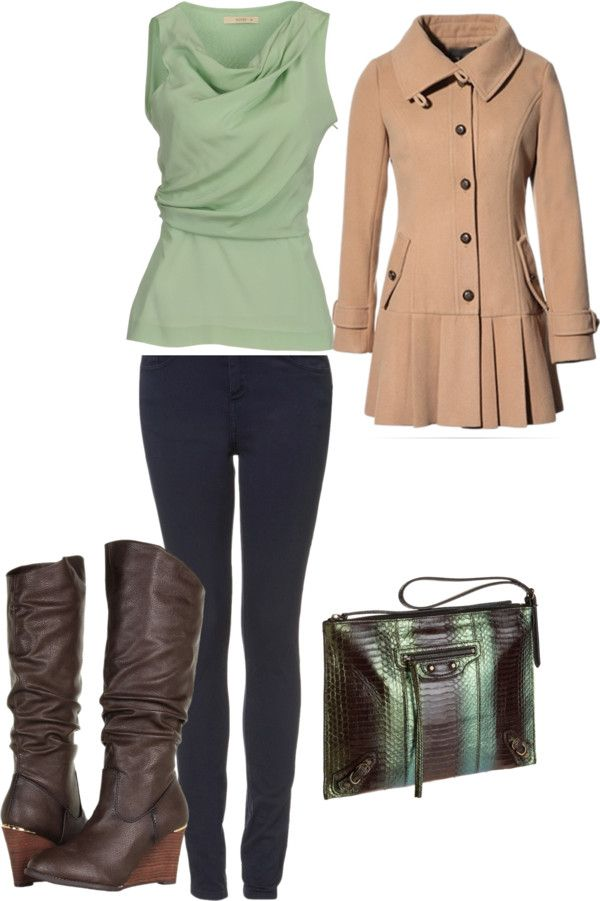 """""""Mint Green and Brown"""" by t-shirtandjeansgirl ❤ liked on Polyvore"""