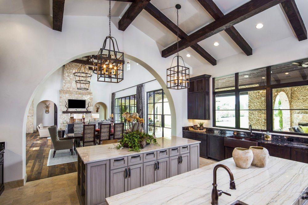 Architecture Home Rustic villa kitchen