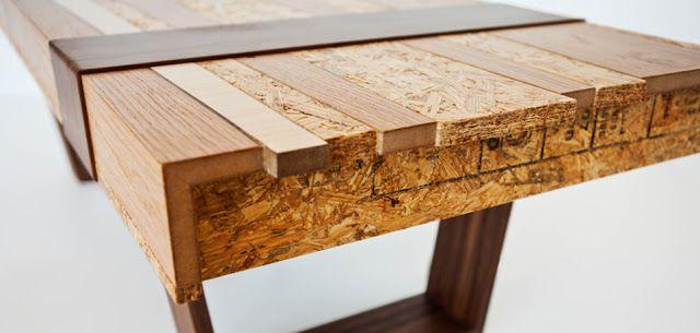 Mesas de diseño con madera recicladaEspacios en madera muebles - mesas de diseo