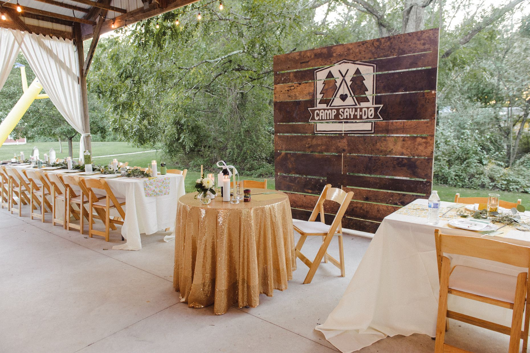 Stephanie Nick S Rustic Camp Themed Wedding Wedding Themes