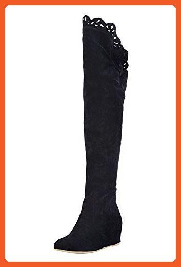 Damen 36 Schuhe Moderne Overknee Schwarz Stiefel IEH2WYD9