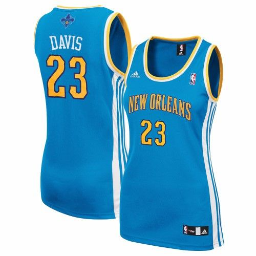 2af2c0c67662 Anthony Davis New Orleans Hornets NBA Adidas Women s Teal Replica Jersey  (XL)