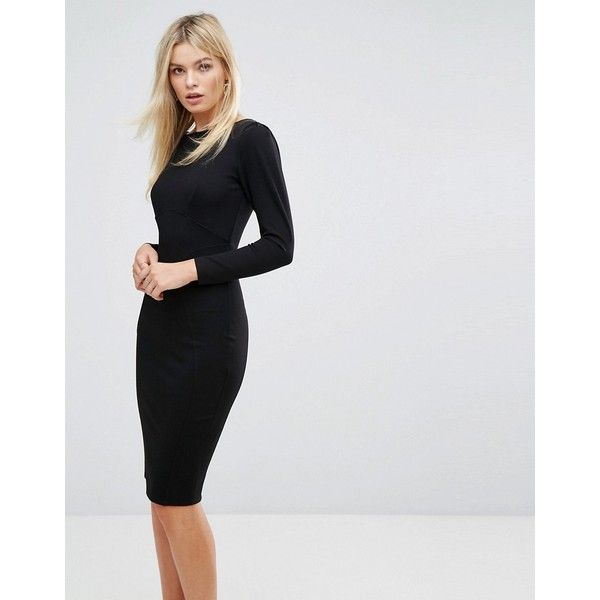 Closet London Midi Dress With Ruched Sleeve 76 Liked On