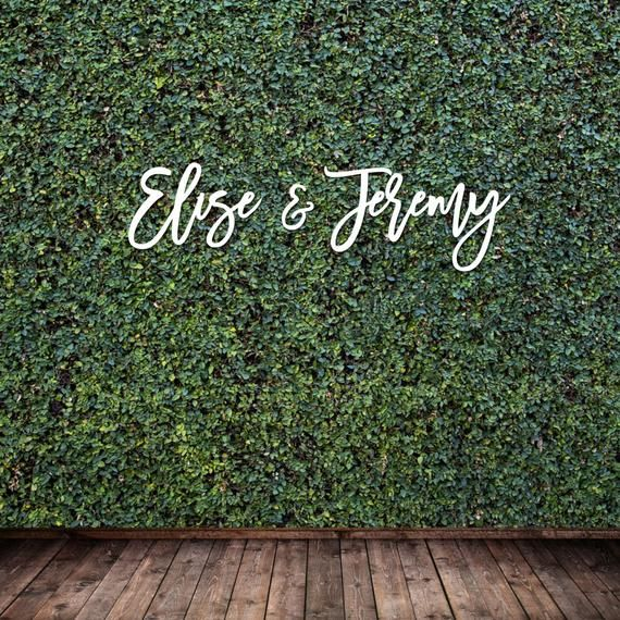 Large Wedding Name Sign, Hedge Backdrop Sign, Cuto