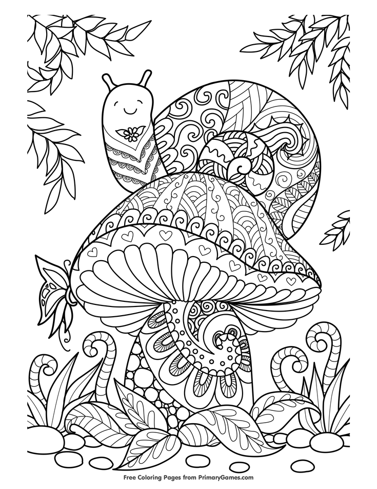 Free Printable Mushroom Coloring Pages For Adults Photos