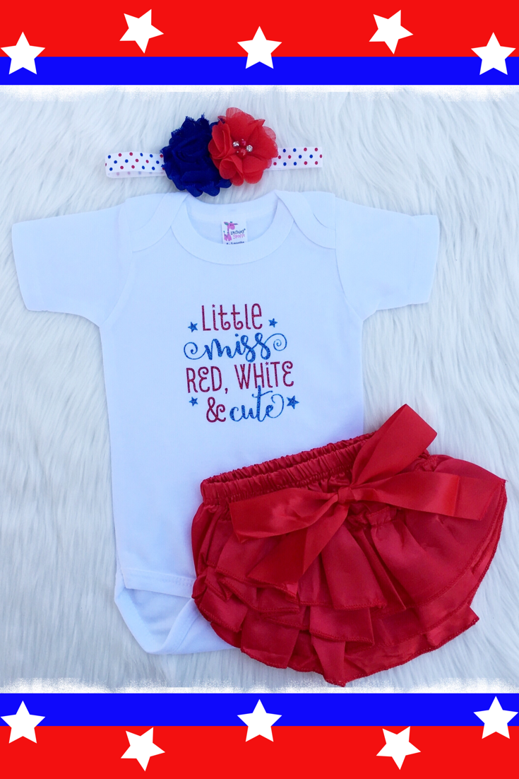 bdacf1000b873 Adorable baby girl Fourth Of July outfit! | Weebie Cuties | Toddler ...