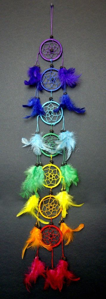 chakra dream catcher 6cm x 7 chakra hoops dreamcatcher dc566 diy pinterest. Black Bedroom Furniture Sets. Home Design Ideas