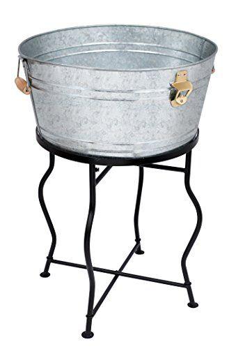 Birdrock Home Galvanized Beverage Tub With Stand Bottle Https Www Amazon Com Dp B01nbkzvb8 Ref Cm Sw Galvanized Beverage Tub Beverage Tub Wooden Handles