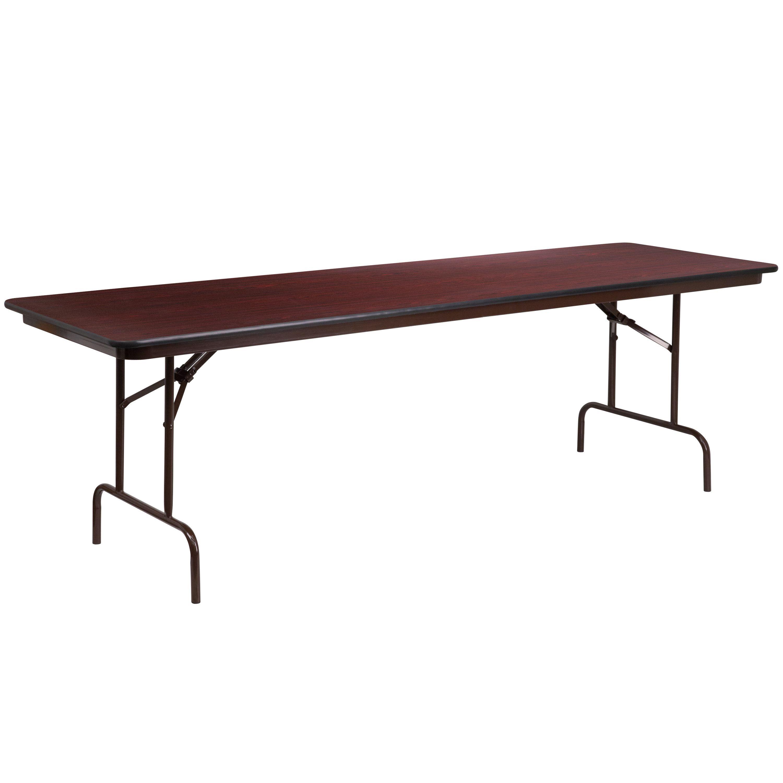 Office folding tables flash furniture inch rectangular walnut melamine folding banquet
