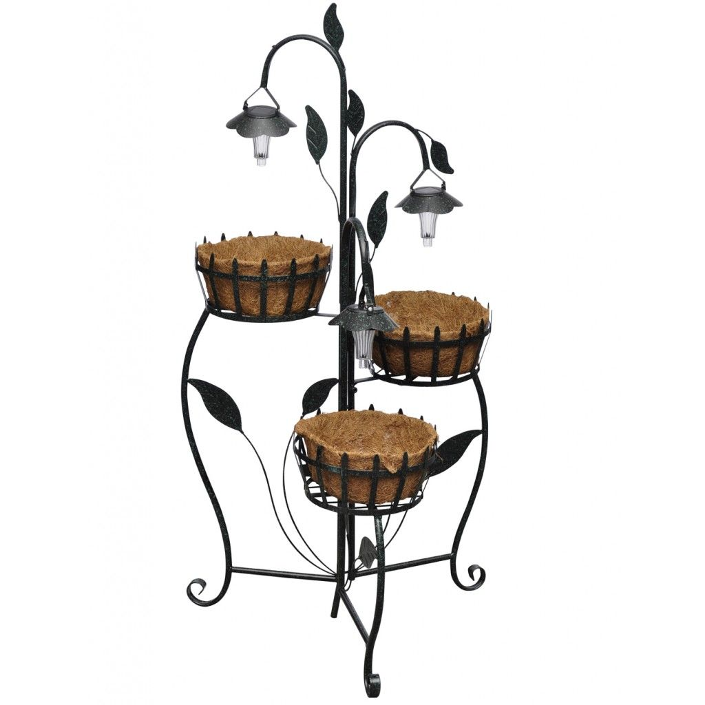 Hanging basket standaard met LED-verlichting