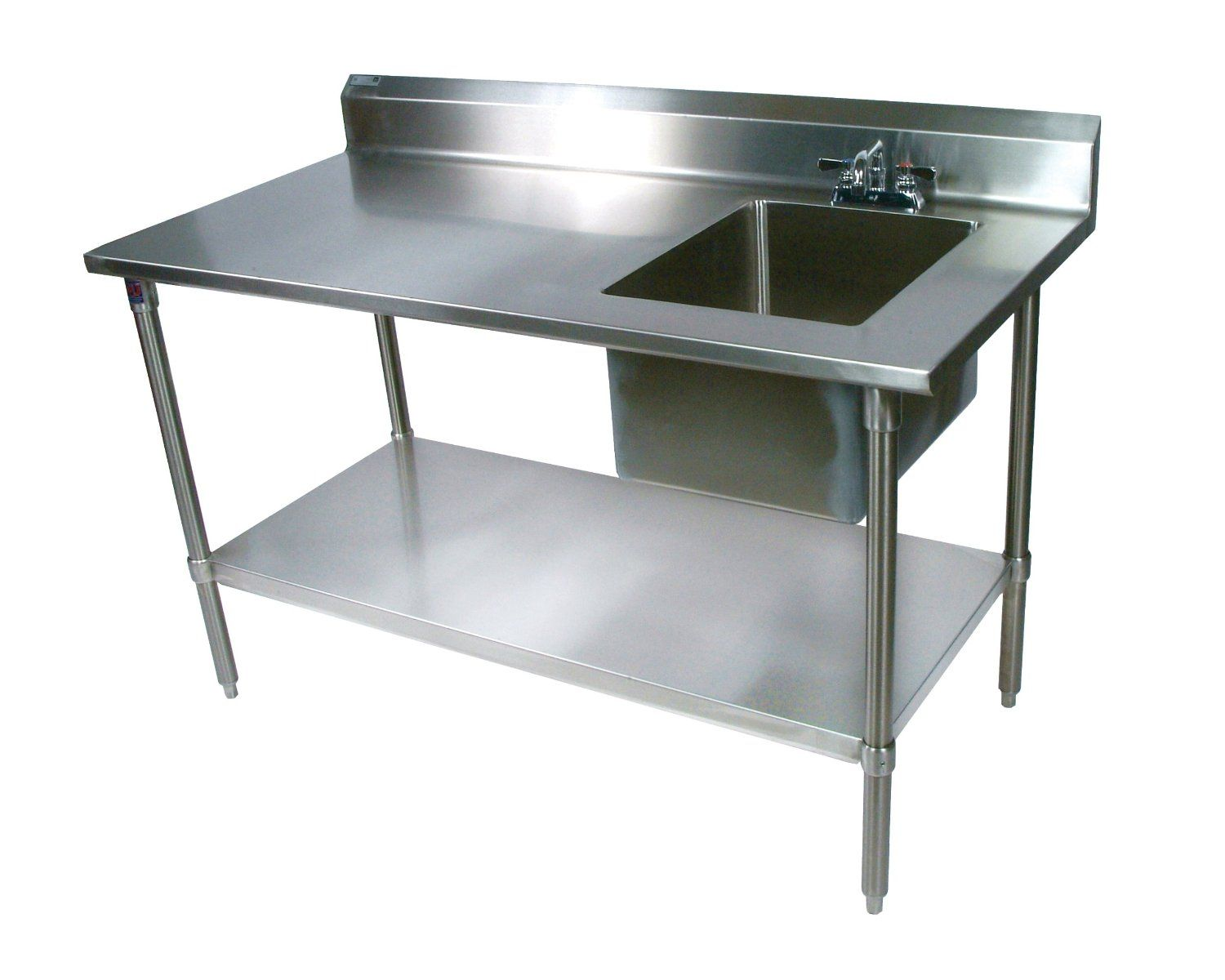 Stainless Steel Kitchen Table Cherry Wood Cabinets Single Work Sink With Faucet Pinterest