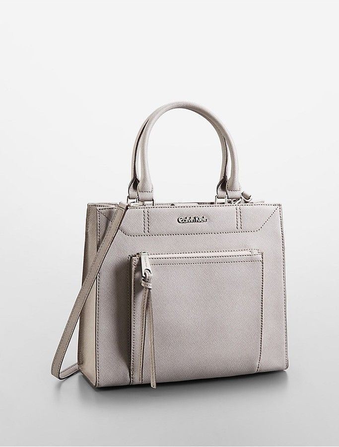 570fc30ccb2 Calvin Klein Saffiano Leather Small Tote Bag on shopstyle.com ...