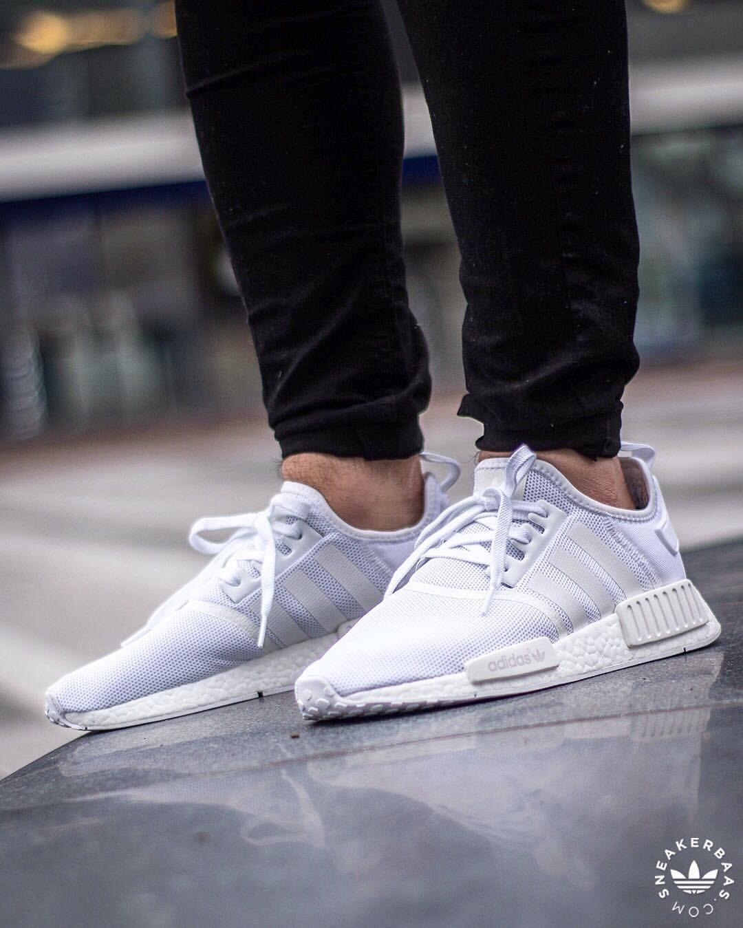 Adidas Nmd R1 Triple White Sneakers Adidas Nmd Sneakers Fashion