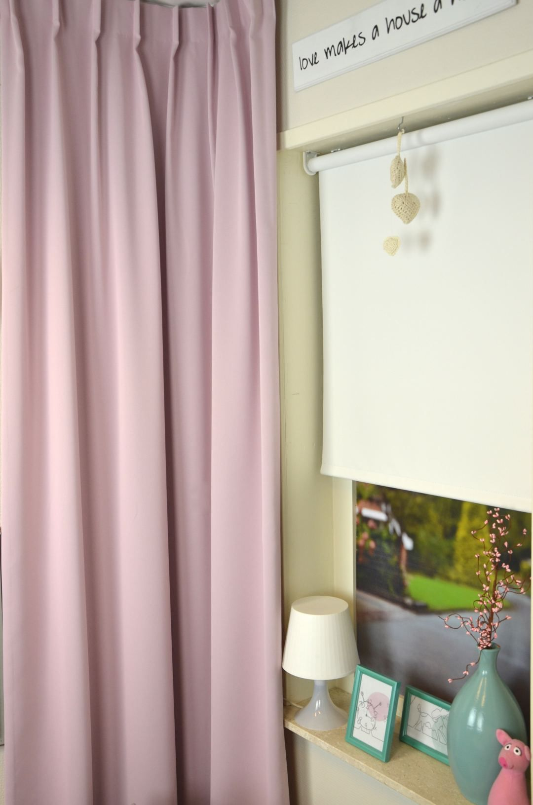 roze gordijn pastel verduisterend vr pastelbudget 81 kindergordijnen