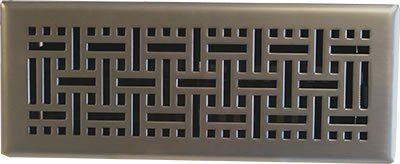 This Satin Nickel Floor Register In A Wicker Style Will Look Great On Any Type Of Flooring The Sy Design Has Steel Core