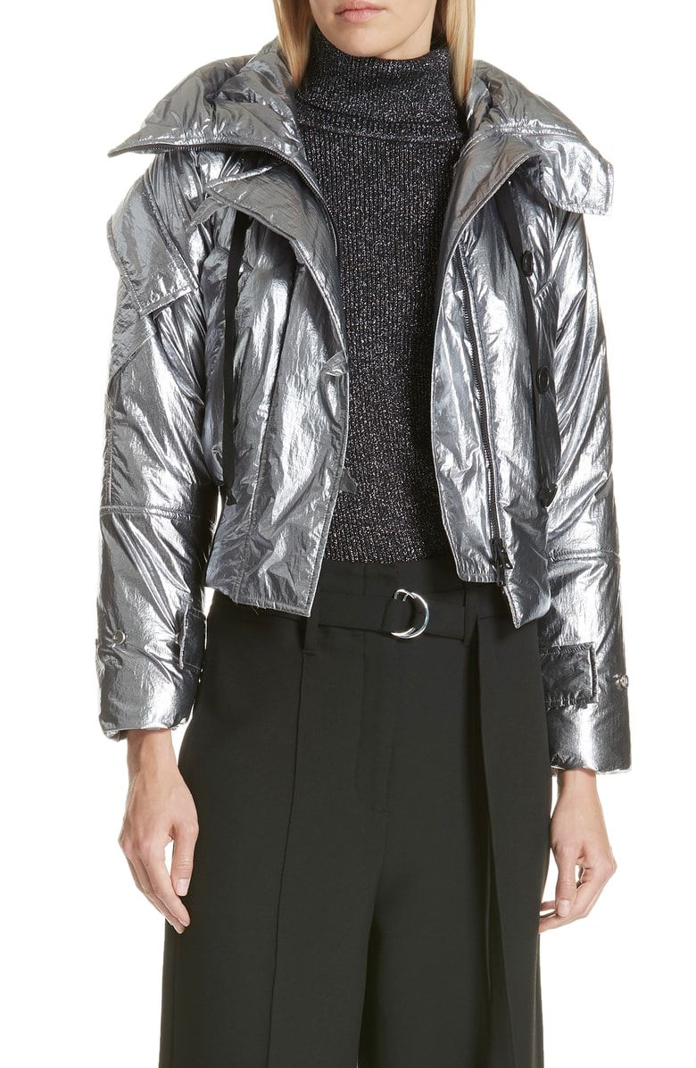 Free Shipping And Returns On Robert Rodriguez Metallic Crop Puffer Jacket At Nordstrom Com A Spacesuit Worthy Lami Jackets Coats For Women Puffer Jacket Women [ 1196 x 780 Pixel ]