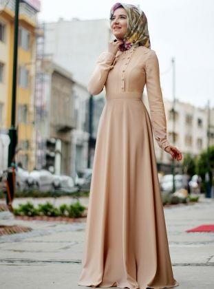 Nisa Elbise Pudra Lal By Hilal Muslim Fashion Outfits Dress Muslim Modern Moslem Fashion