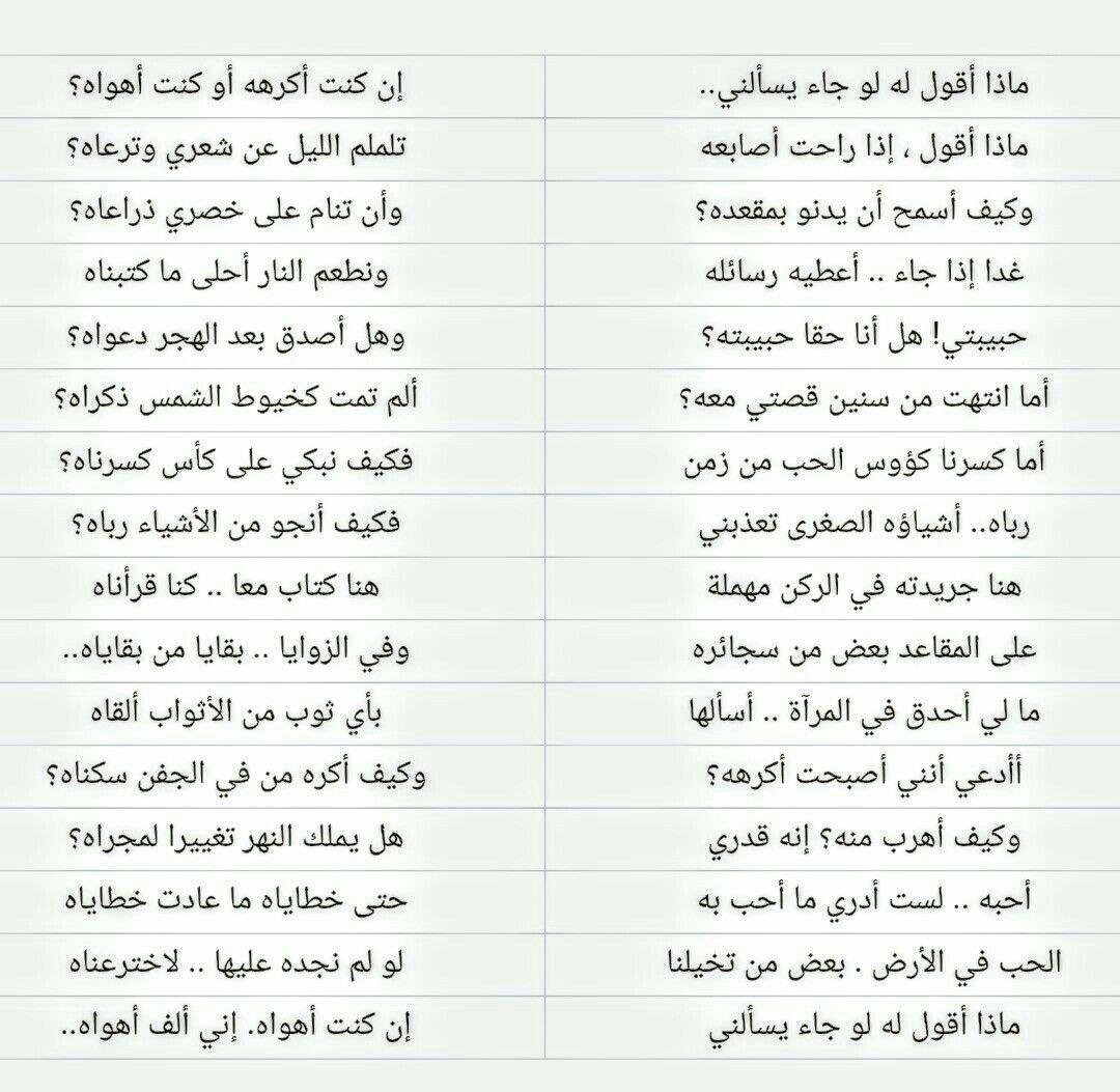 بين المحبوب والفؤاد عن الحبيب رسالة ماذا أقول له للشاعر نزار قباني Words Arabic Poetry Poems