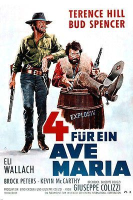 SPAGHETTI WESTERN ACE HIGH 4 MOVIE POSTER Bud Spencer Terence Hill 24X36 -PW0
