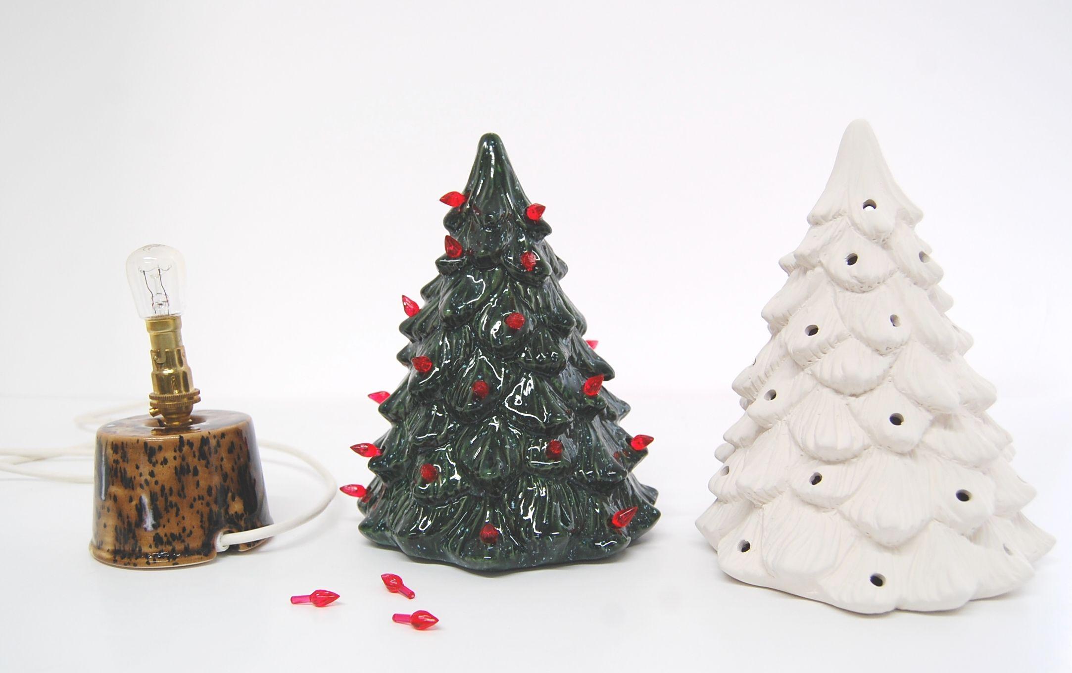 Ceramic #Pottery Vintage Tree Lamp #Christmas #Xmas ornament ...