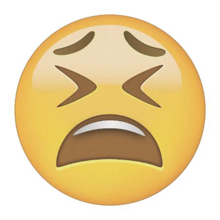 Tired Face Emoji Edible Frosting Rounds Zazzle Com Emoji Emoji Signs Emoji Stickers