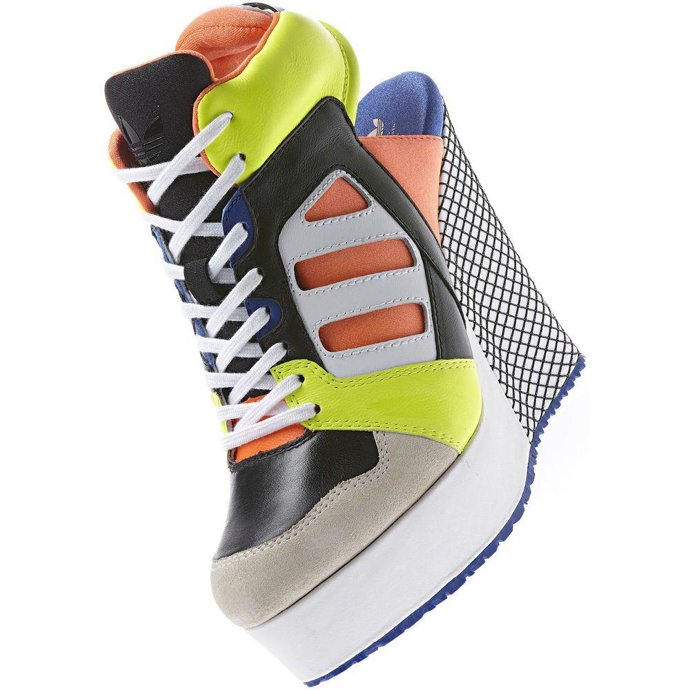 ADIDAS Women's Streetball Platform Wedge Open heel Shoes #ADIDAS