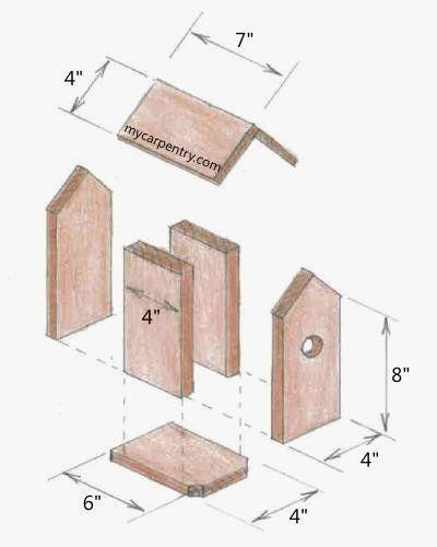 Blue Jay House Plans Inspirational Lovely Blue Jay Bird House Plans New Home Plans Design Idees Nichoir Nichoir Plan Nichoir