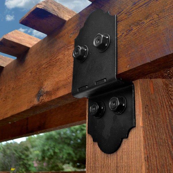 post to beam bracket kit by ozco ornamental wood ties. Black Bedroom Furniture Sets. Home Design Ideas