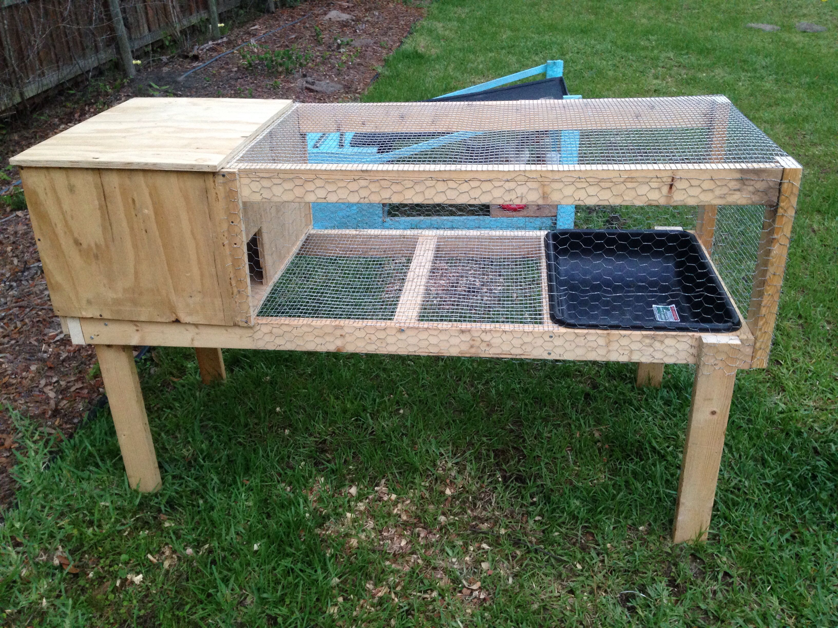 Duck house i built myself with some help of ideas from for Duck hutch ideas