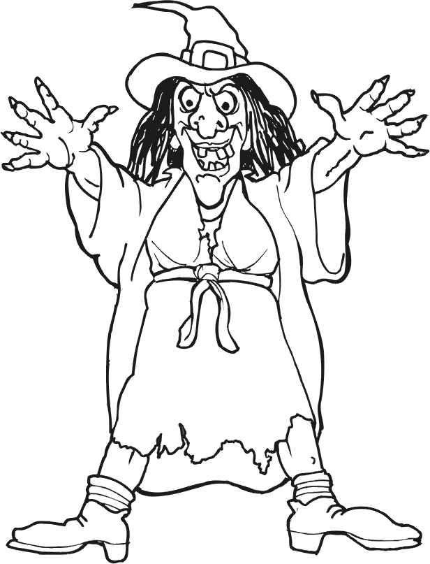 Scary Witch Coloring Pages filipojakubsk noc Pinterest Scary