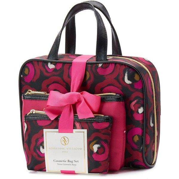 64a7894578 Adrienne Vittadini Studio 3-pc. Cosmetic Bag Gift Set (Pink) (£17 ...