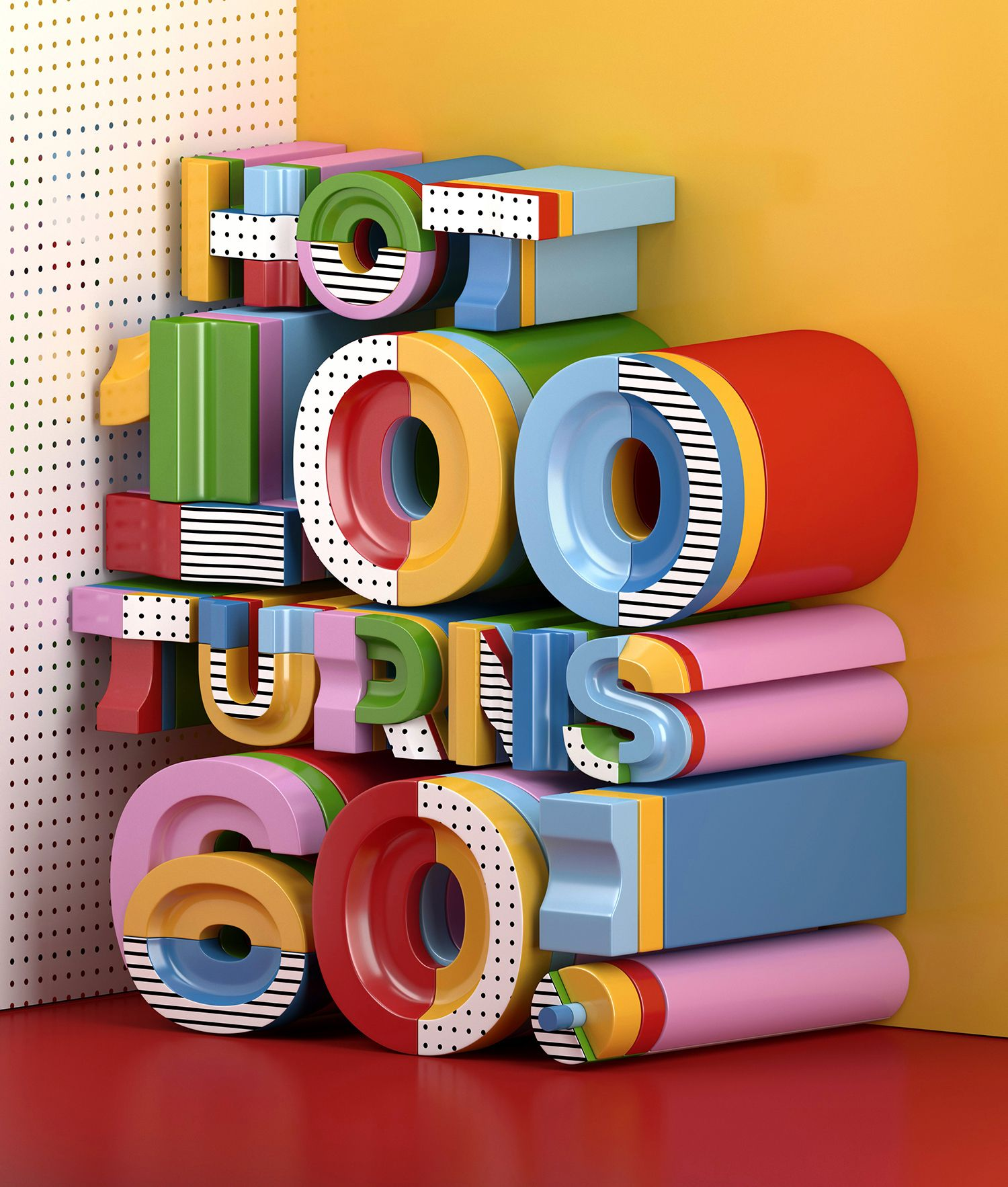 Joyful Typography Design #3dtypography