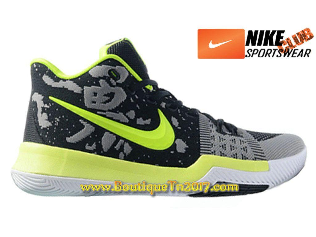 e0eaf34c90e88 Nike Kyrie 3 Chaussures de Basketball Pas Cher Pour Homme Noir Vert air max nike  pas