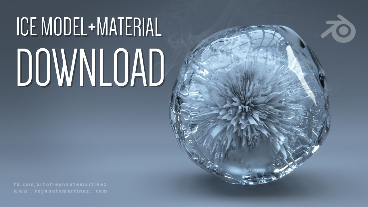 MODEL+MATERIAL DOWNLOAD: Ice | blender tricks and tips in 2019