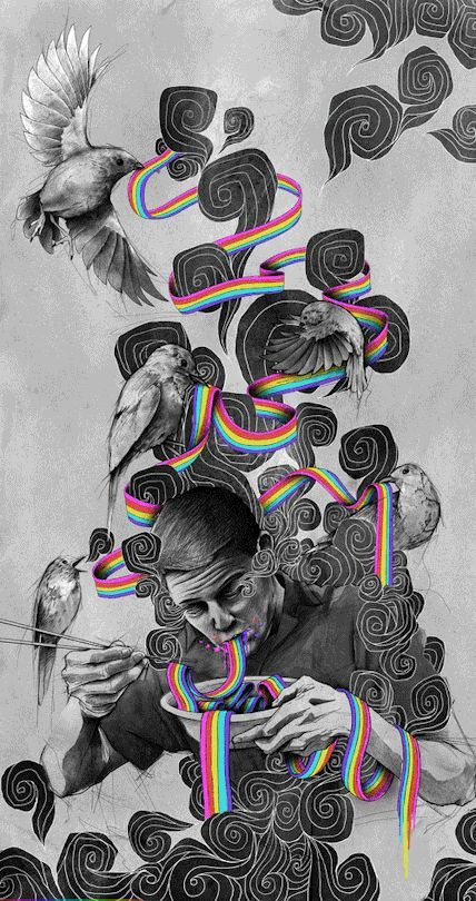 Liberate Your Mind Trippy Psychedelic