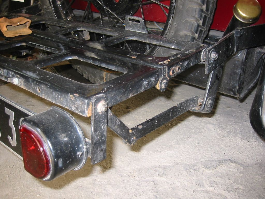 Rear luggage rack in extended mode… Austin cars, Austin