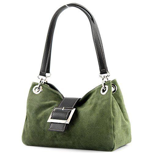 9b8d3f98f8f69 Kleine ital. handgefertigte Damentasche aus Wildleder in großer Farbauswahl  ! Trageriemen