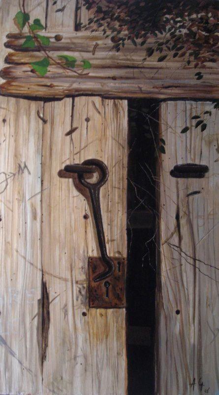 cerraduras puertas antiguas de madera