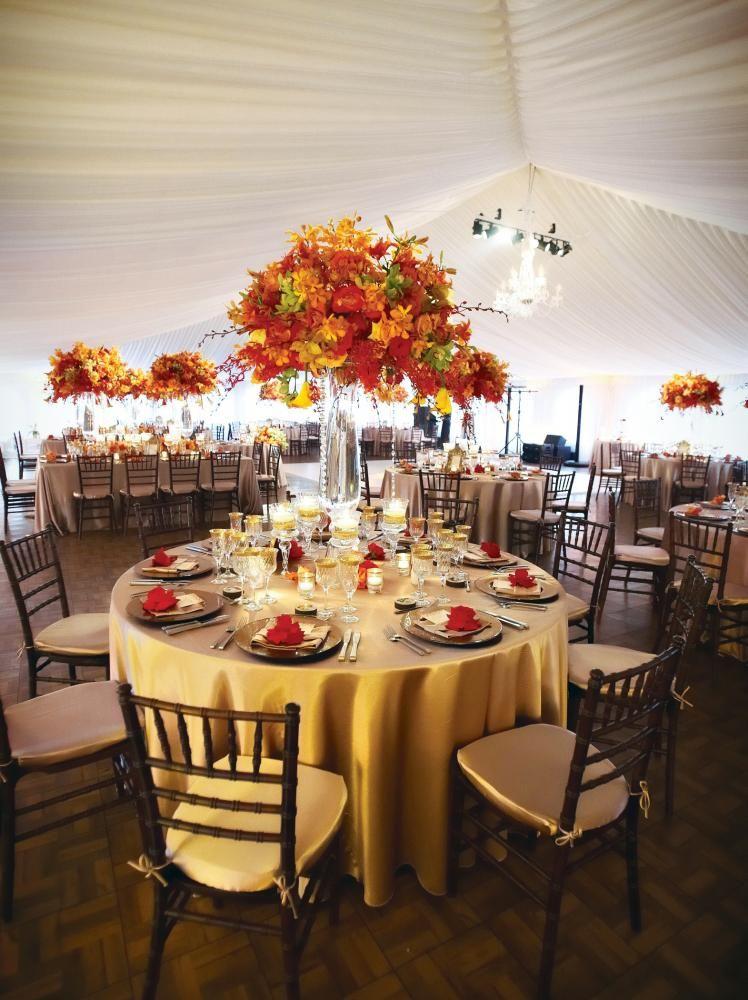 Beautiful fall wedding reception decor Fall wedding