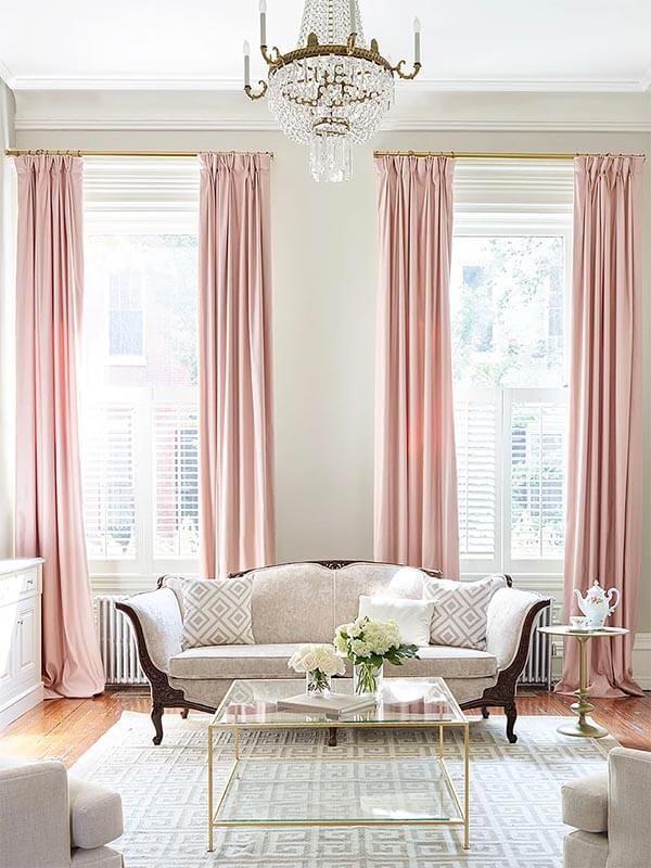 Kleur in huis: roze gordijnen   Sweet Home   Pinterest   Retro ...