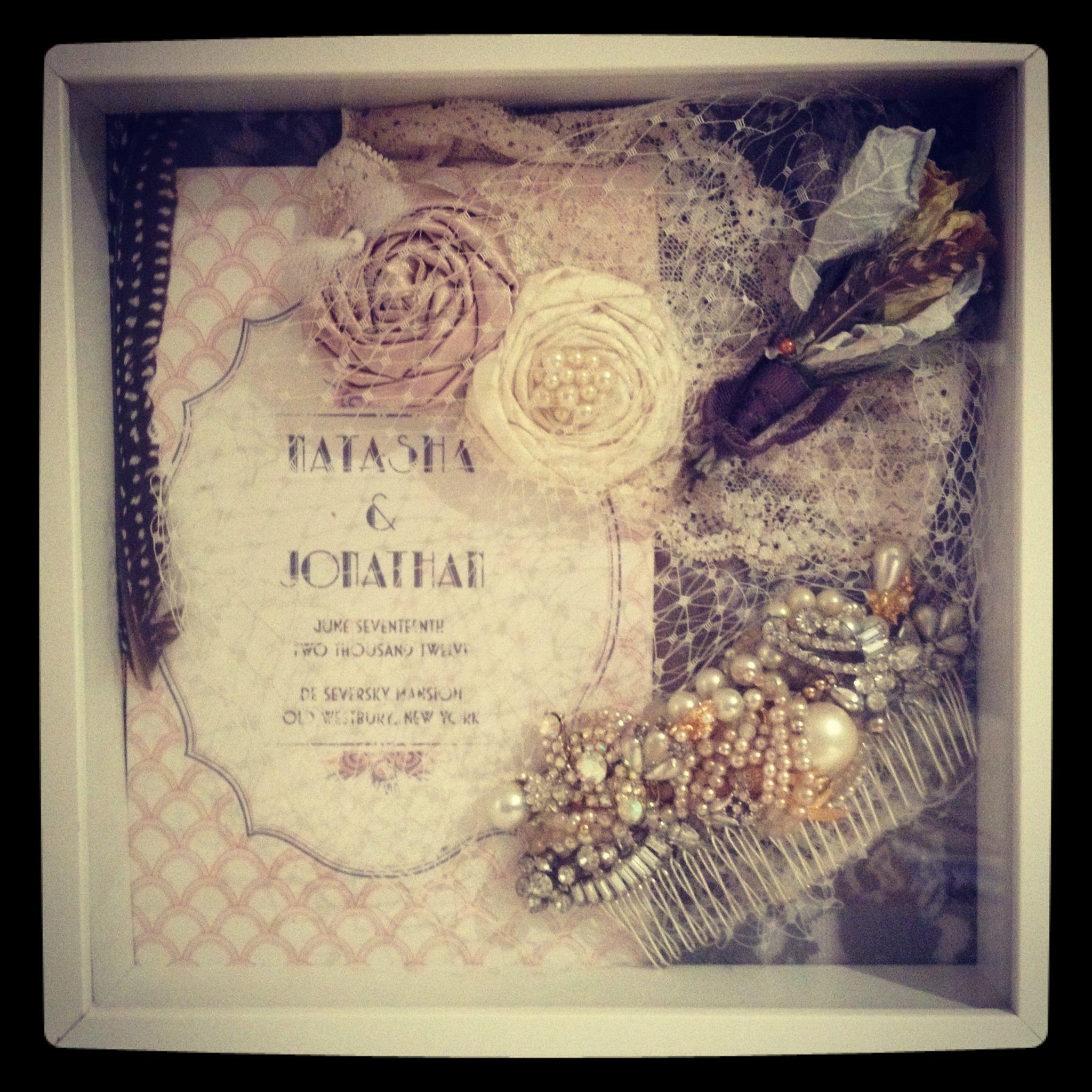Post Wedding Gifts: Wedding Shadow Box! A Great Way To Display Keepsakes, As