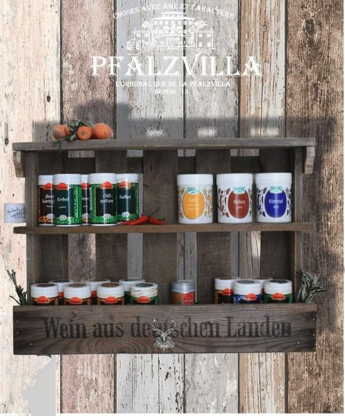 Gewürzregal aus Weinkiste , Vintage, Altholz | Upcycling, Interiors ...