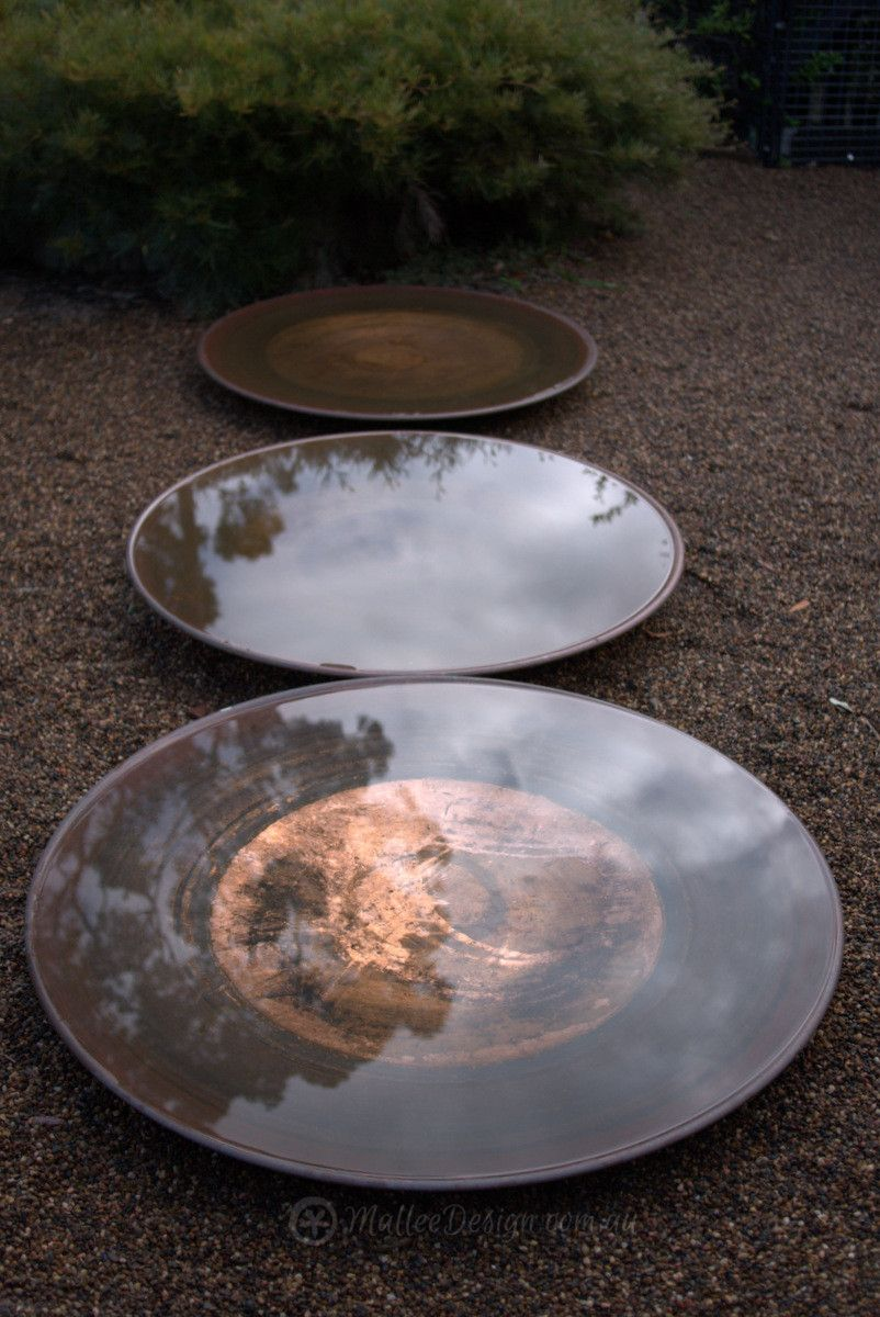 Extra Large Spun Copper Dish The Big Mumma Mallee Design Water Features In The Garden Low Maintenance Garden Design Garden Design