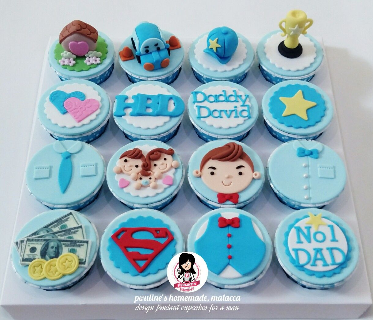 Design Fondant Cupcakes For A Dad With Images Fathers Day