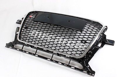 Front Grille Black Honeycomb Mesh Grill RSQ5 Style Fit For Audi Q5